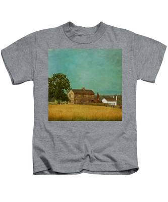 Henry House At Manassas Battlefield Park Kids T-Shirt