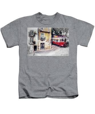 Historic Lisbon Tram Kids T-Shirt