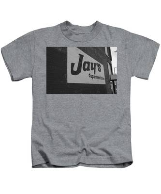 Jay's Department Store In Bw Kids T-Shirt