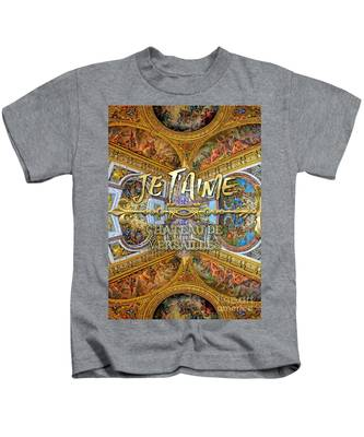 Je Taime Chateau Versailles Peace Salon Hall Of Mirrors Kids T-Shirt