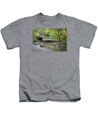 Lanterman's Mill Covered Bridge Kids T-Shirt