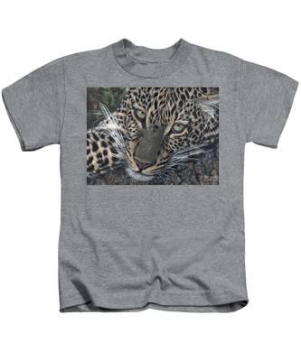 Leopard Portrait Kids T-Shirt
