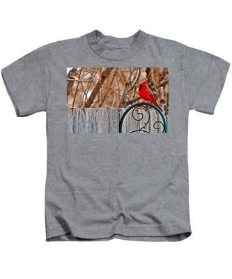 Male Cardinal Kids T-Shirt