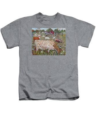 Meadow Farm Cows Kids T-Shirt