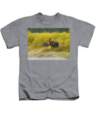 Moose Couple Kids T-Shirt