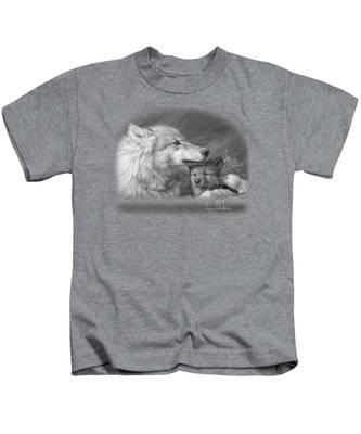 Mother's Love - Black And White Kids T-Shirt