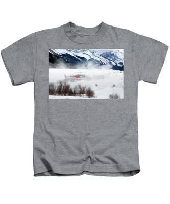 Mountain Landing Kids T-Shirt