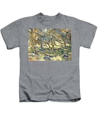 Oilve Grove Marmari Beach Kids T-Shirt
