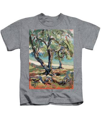 Olive Trees Along Marmari Beach Paxos Kids T-Shirt