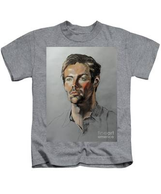 Pastel Portrait Of Handsome Guy Kids T-Shirt