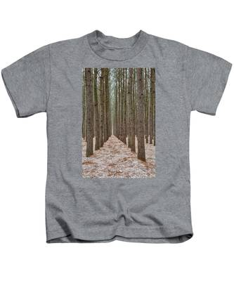 Peaceful Pines Kids T-Shirt