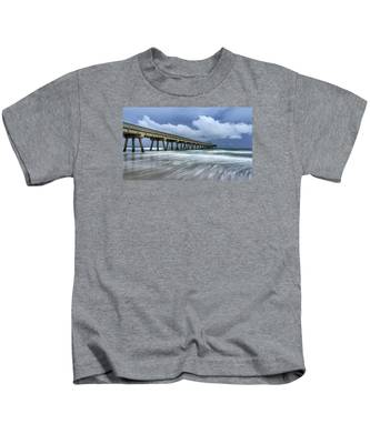 Pier Time Lapse Kids T-Shirt