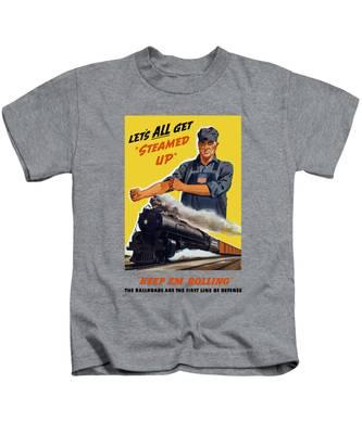 Steam Engine Kids T-Shirts