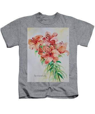 Red Lilies Kids T-Shirt