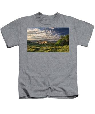 Kids T-Shirt featuring the photograph Simi Valley Overlook by Endre Balogh
