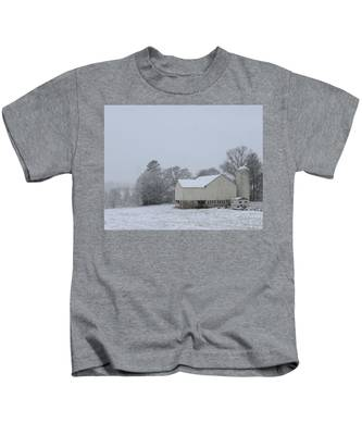 Winter White Farm Kids T-Shirt