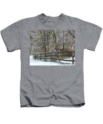 Winter Fence Kids T-Shirt