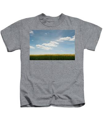 Spring Day Clouds Kids T-Shirt