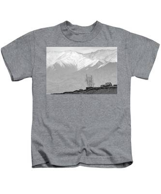 Stupa And Trees Kids T-Shirt