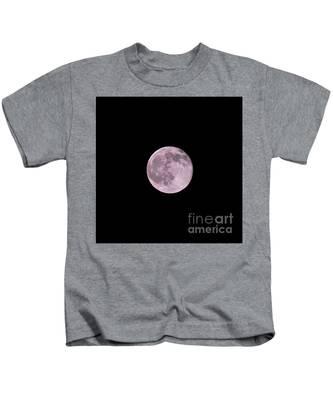 Summer Solstice Strawberry Moon Kids T-Shirt by Bridgette Gomes
