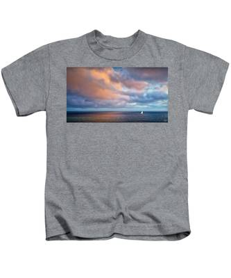 Kids T-Shirt featuring the photograph The Sea At Peace by Endre Balogh