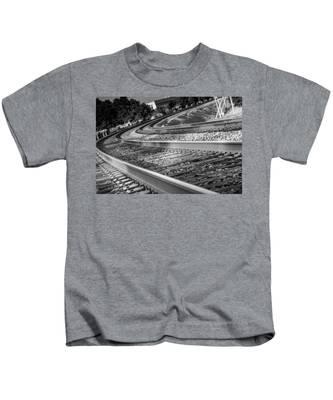 Tracks Through Historic Buford Kids T-Shirt
