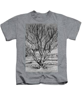 Tree And Temple Kids T-Shirt