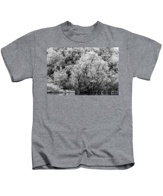 Trees On The River Kids T-Shirt