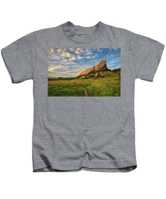 Kids T-Shirt featuring the photograph Turtle Rock At Sunset by Endre Balogh