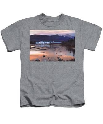 Waterville Valley Sunset Kids T-Shirt