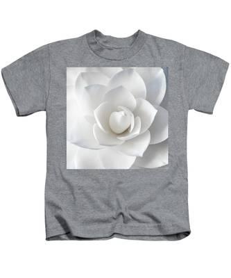 White Petals Kids T-Shirt
