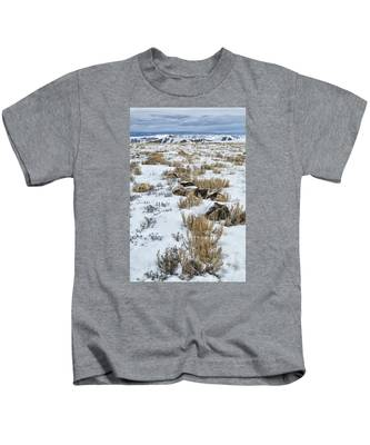 Winter Light In The High Desert Kids T-Shirt
