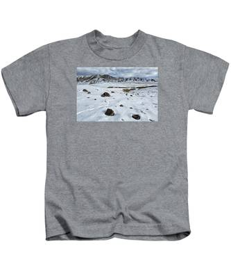 Winter Tracks Kids T-Shirt