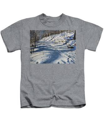 Winter's Shadows Kids T-Shirt