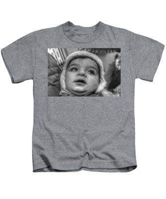 Youth In A Fleece Lined Cap Kids T-Shirt