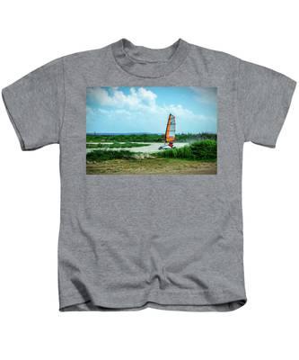 Bonaire Land Sailor  Kids T-Shirt