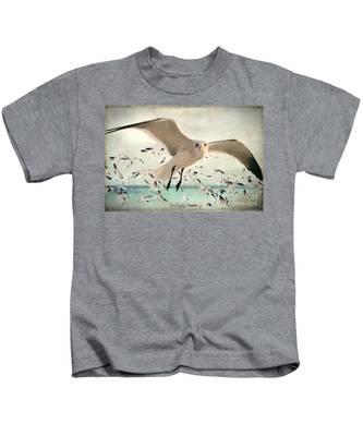 Flight Of The Gulls Kids T-Shirt