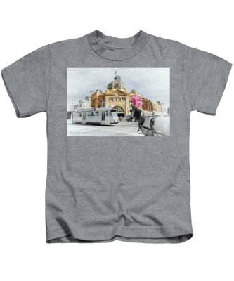 Flinders Street Station, Melbourne Kids T-Shirt