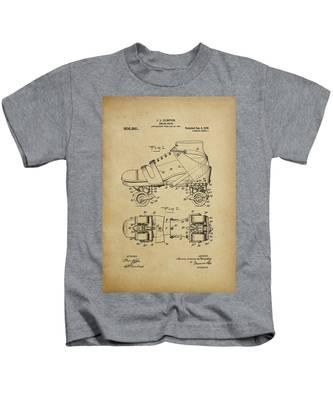 J. L. Plimpton, Roller Skate, Patented Dec.8,1908. Kids T-Shirt