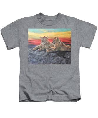 Lion Sunset Kids T-Shirt