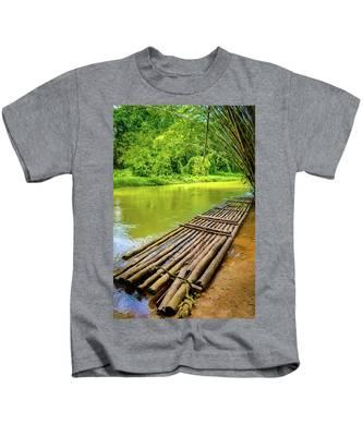 Martha Brae River Rafting Kids T-Shirt