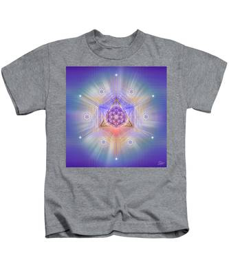 Kids T-Shirt featuring the digital art Sacred Geometry 734 by Endre Balogh