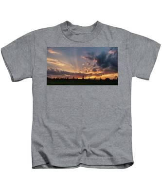 Sunrays At Sunset Kids T-Shirt