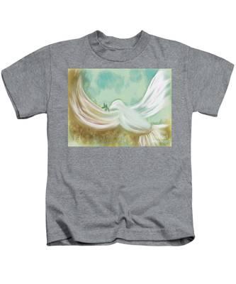 Wings Of Peace Kids T-Shirt
