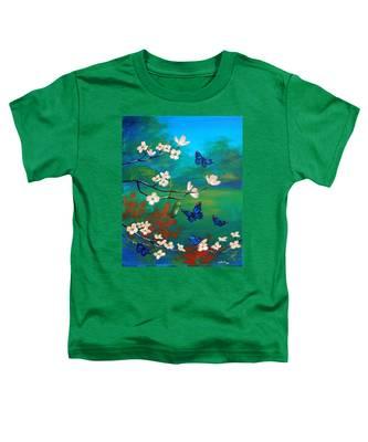 Butterfly Blue Toddler T-Shirt