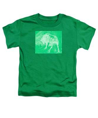 Green Bull Negative Toddler T-Shirt