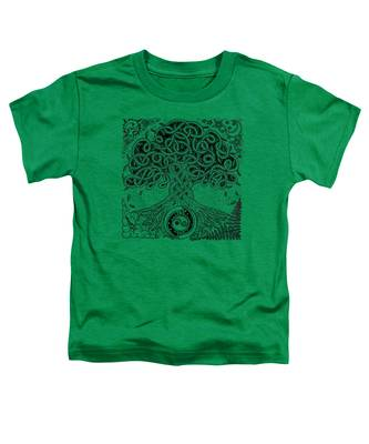 Circle Celtic Tree Of Life Inked Toddler T-Shirt