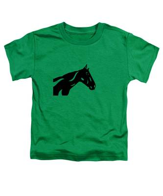 Toddler T-Shirt featuring the painting Crimson - Abstract Horse by Manuel Sueess
