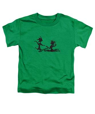 Toddler T-Shirt featuring the painting Dancing Couple 9 by Manuel Sueess