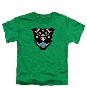 Terrier Terry - Dog Design - Greenery, Hazelnut, Niagara Blue Toddler T-Shirt by Manuel Sueess
